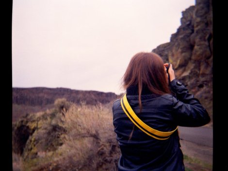 Sarah at Frenchman Coulee Camera: Ansco Color Clipper (c.1950) || Film: Kodak Ektachrome 200 (expired in 09/1994 -- xpro as C-41)